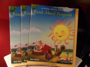 Junior Great Read Aloud Program Book Homeschool Sun Series Vol 1-2-3 Set Reading