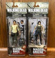 Glenn Rhee & Maggie Greene McFarlane Walking Dead Series 5 Figures Lot New NIB