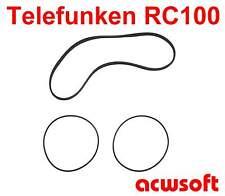 Riemen Belts for Telefunken RC100 RC-100