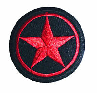 Red Star in Black Circle Embroidered iron on patch tattoo rockabilly punk - 16