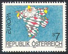Austria 1993 EUROPA/ARTE/PITTURA/clown/circo/Entertainment 1 V (n32007)