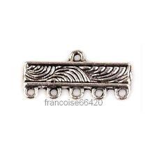 10 Perles connecteur entre-deux Rectangle 5 rangs 22mm Apprêts créat bijoux A134