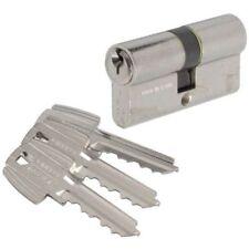 TESA - Cylindre 2 entrées nickelé - 30 x 30 mm - ref : T5B03030N