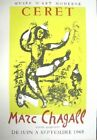 Marc Chagall Original Lithograph Exhibition Poster Ceret The Circus Mourlot 1968