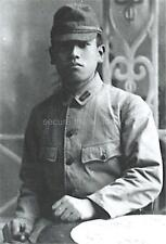 VINTAGE PHOTO REPRINT: INTENSE YOUNG JAPANESE SOLDIER in LIGHT & SHADOW