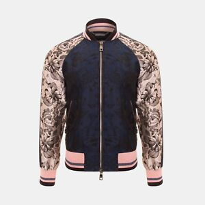 Dolce & Gabbana Floral Print Two Tone Bomber Jacket RRP £1500
