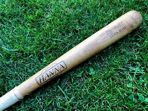 "Vtg 1960s Hank Aaron Hanna Bat Athens Georgia Baseball Bat 32"" Glasgrip Handle"