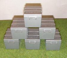 VINTAGE ACTION MAN 40th LOOSE JUNGLE EXPLORER - EXPEDITION BOXES x 6 (UNPAINTED)