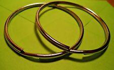 """2 Split Key Rings  3"""" ID - NICKEL PLATED STEEL"""