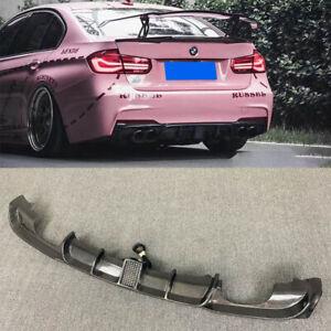 Carbon Fiber Rear Diffuser Lip Quad Tips For BMW F30 320i 325i 328i 335i M Sport