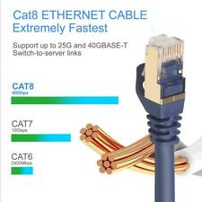 Cat8 Ethernet Cable SFTP 40Gbps Super Speed RJ45 Network Lan Patch Cable