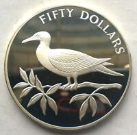 Belize 1985 WWF Bird 50 Dollars 4oz Silver Coin,Proof