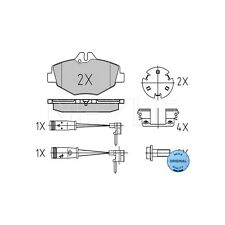 Meyle 27434 Brake Pad Set, DISC BRAKE Meyle-ORIGINAL QUALITY 025 237 4320/W