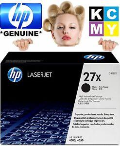 HP GENUINE ORIGINAL 27X BLACK LASER PRINTER TONER CARTRIDGE C4127X 4000 4050