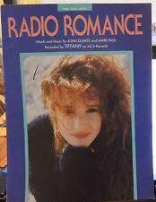 Radio Romance - Tiffany - 1988 US Sheet Music