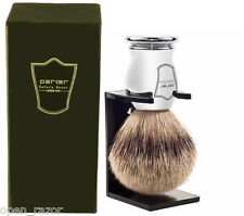 Parker Silvertip Shaving Brush , Chrome Handle