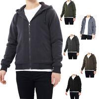 Brave Soul Zone Mens Fleece Sherpa Lined Zipper Hoody Hooded Sweater Top Jacket