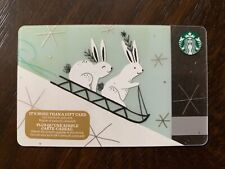 "Canada Series Starbucks ""RABBIT FUN 2017"" Gift Card - New No Value"