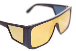 TOM FORD ATTICUS TF710 01G Mens Large Square Sunglasses BLACK GOLD ORANGE MIRROR