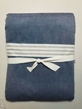 Pottery Barn Teen Beachstone Stripe Duvet Cover Twin Gray #3255