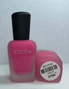 ZOYA Nail Polish Lolly MATTE VELVET Lolly Lacquer Discontinued