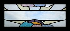 Amazing Rare English Art Deco Sunburst Through Clouds Stained Glass Window