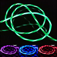 Flowing LED Light Charging Charger Cable USB Cord For Android Micro Type C Phone