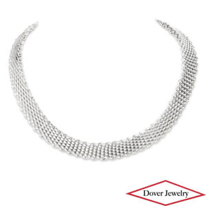 TIffany & Co. Sterling Silver Mesh Chain Necklace 88.1 Grams NR