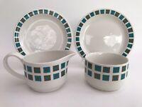 Midwinter Berkeley Milk Jug & Sugar Bowl + 2 Side Plates Jessie Tait 60's 70's