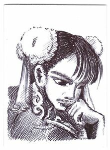 ACEO Sketch Card Chun Li from Street Fighter 2 Videogame