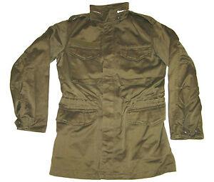 Original AUSTRIAN ARMY Obh M65 Militär Olive Farblos Feldjacke Vintage Mantel