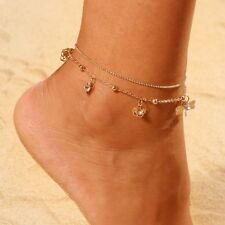 Foot Jewelry Leg Chain anklets Hot- Gold Boho Dragonfly Multilayer Anklet Beach