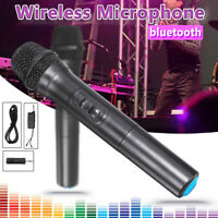"12V UHF 2 Channel Wireless Handheld Microphone bluetooth Speaker Karaoke  ""+