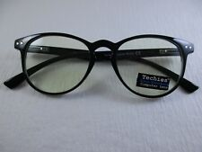 TECHIES Blue Blocking Computer Lens BLACK Spring Temple Reading Glasses +3.00