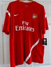 NWT NIKE FLY EMIRATES ARSENAL RED DRI-FIT SS TRAINING TOP SIZE 2XL