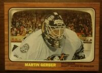 2002/03 MARTIN GERBER Rookie Topps Heritage RC 132 Anaheim Mighty Ducks COMB SH