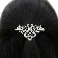 Frauen große Celtics Knoten Crown Haarnadeln Haarspangen Zubehör Stick Foli A8D7