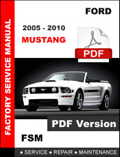 FORD MUSTANG 2005 2006 2007 2008 2009 2010 FACTORY SERVICE REPAIR SHOP MANUAL