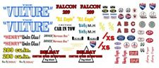 The Vulture Ford Falcon NHRA AHRA Drag 1/24th - 1/25th Scale Decals
