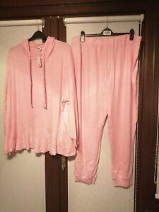 BNWT Ladies Pretty Secrets Pink Loungewear Set Pyjamas size 28-30