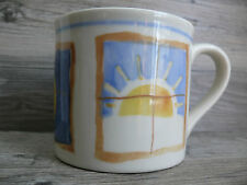 Starbucks Hartstone Barista Hand Painted in USA Mug Sun Moon Stars Pattern 12 oz