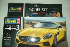 REVELL  MERCEDES AMG-GT   1:24 scale plastic  kit with paints and glue