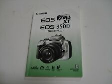 Canon EOS Rebel XT XTi XS XSi 300D 30D 20D Camera User Manual Englsih Spanish