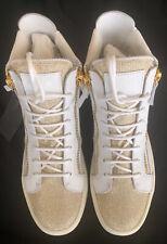 RARE white/gold Giuseppe Zanotti Platform Sneakers Women Sz 7.5 RS5093