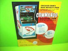 Chicago Coin COMMANDO Machine Gun 1973 Original Helicopter Arcade Game Flyer