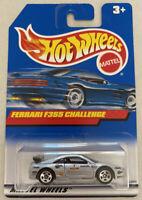 1999 Hotwheels Ferrari F355 355 Challenge Silver! Mint! MOC!