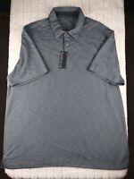 New Mens VAN HEUSEN Black/Gray Short Sleeve Polo Shirt