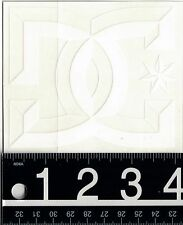 DC SHOES WHITE STICKER DC 4.25 in x 3.5 in White Skate Snow Surf Moto Decal