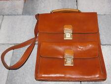 vintage ancien SACOCHE HOUSSE sac CARTABLE en CUIR LEATHER BAG Ledertasche LEDER