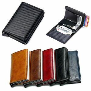 Mens RFID Blocking Leather Credit Card ID Wallet Holder Slim Money Clip Purse